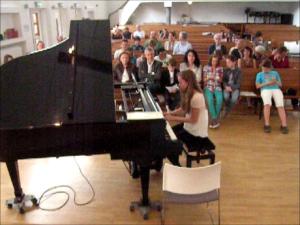 Martina playing Comptine d'un autre ete: Apres-midi
